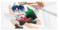6559 1 Other Anime Hd S Anime Girls Swords Beach Towel