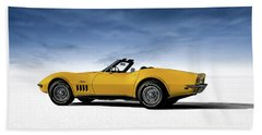 '69 Corvette Sting Ray Beach Towel
