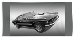 69 Mach1 In Black And White Beach Towel