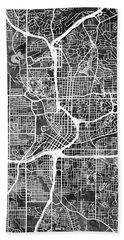 Atlanta Georgia City Map Beach Sheet