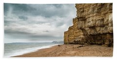 Beautiful Vibrant Sunset Landscape Image Of Burton Bradstock Gol Beach Towel
