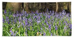 Bluebells At Banstead Wood Surrey Uk Beach Towel