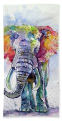 Colorful Elephant Beach Towel