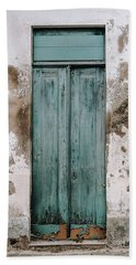 Beach Sheet featuring the photograph Door With No Number by Marco Oliveira