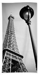 Eiffel Tower Beach Towel by Chevy Fleet