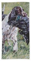 English Springer Spaniel Beach Sheet by Lee Ann Shepard