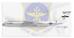 Beach Towel featuring the digital art Lockheed C-141a Starlifter by Arthur Eggers