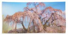 Beach Sheet featuring the photograph Miharu Takizakura Weeping Cherry29 by Tatsuya Atarashi