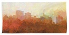 Beach Towel featuring the digital art Oakland California Skyline by Marlene Watson