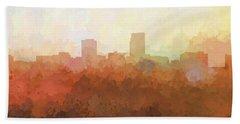 Beach Towel featuring the digital art Omaha Nebraska Skyline by Marlene Watson