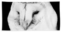 Portrait Of Bird Of Prey Beach Sheet