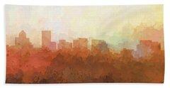 Beach Sheet featuring the digital art Salem Oregon Skyline by Marlene Watson