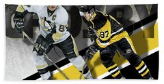 Sidney Crosby Beach Towel by Don Olea