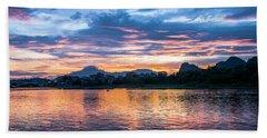 Sunrise Scenery In The Morning Beach Sheet