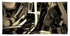 Vintage Motorbike Beach Towel by Dariusz Gudowicz