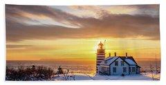 West Quoddy Head Lighthouse Beach Sheet