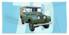 70 Years Of Land Rover Beach Towel