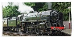 70013 Oliver Cromwell At Leicester Beach Towel