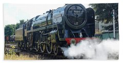 70013 Oliver Cromwell At Loughborough Beach Towel