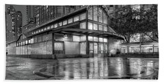 72nd Street Subway Station Bw Beach Sheet by Jerry Fornarotto