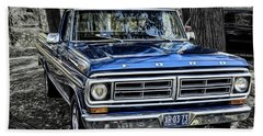 Beach Towel featuring the photograph 73 Ford Pickup by Brad Allen Fine Art