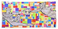 76 Aka The Gift Beach Towel by Jeremy Aiyadurai