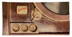 Beach Towel featuring the photograph 78 Rpm And Accessories by Gary Slawsky