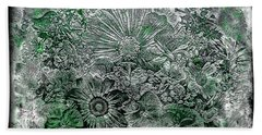 7a Abstract Floral Expressionism Digital Art Beach Towel