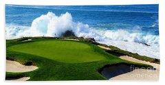 7th Hole - Pebble Beach  Beach Towel
