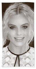 Actress Margot Robbie Beach Towel