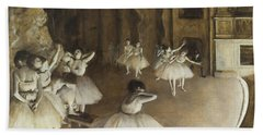 Ballet Rehearsal On Stage Beach Towel