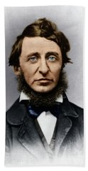 Beach Towel featuring the photograph Henry David Thoreau by Granger