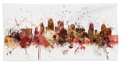 Kansas City Skyline Beach Towel