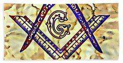 Masonic Symbolism Reworked Beach Towel