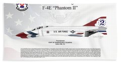 Mcdonnell Douglas F-4e Phantom II Thunderbird Beach Sheet