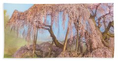 Beach Sheet featuring the photograph Miharu Takizakura Weeping Cherry08 by Tatsuya Atarashi