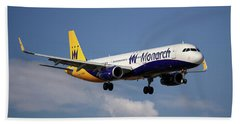 Monarch Airlines Airbus A321-231 Beach Towel
