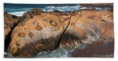 Point Lobos Concretions Beach Towel
