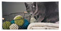Russian Blue Beach Towel