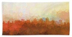 Beach Sheet featuring the digital art San Diego California Skyline by Marlene Watson