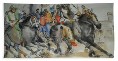 Siena And Their Palio Album Beach Towel by Debbi Saccomanno Chan