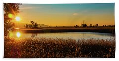 Sunrise In The Ditch Burlamacca Beach Towel