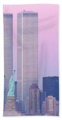 Usa, New York, Statue Of Liberty Beach Towel