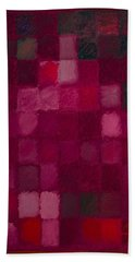 81 Color Fields - Madder Lake Beach Towel