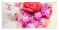 #8742 Soft Flowers Beach Towel