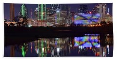 8x10 Dallas With Reflection Beach Towel