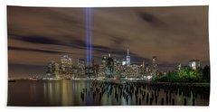 9/11 Tribute Lights 2016 Beach Towel