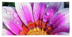 Beach Sheet featuring the photograph Beautiful Gazania by Elvira Ladocki