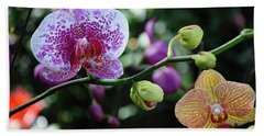 Butterfly Orchid Flowers Beach Towel