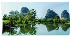 Karst Rural Scenery Beach Towel